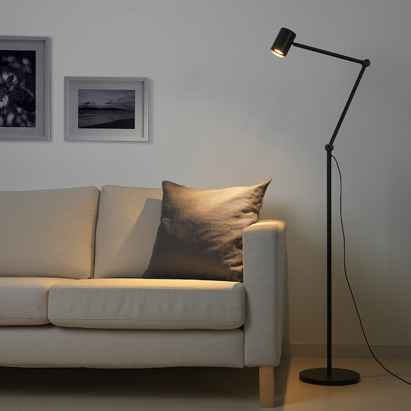 NYMÅNE Floor/reading lamp, anthracite
