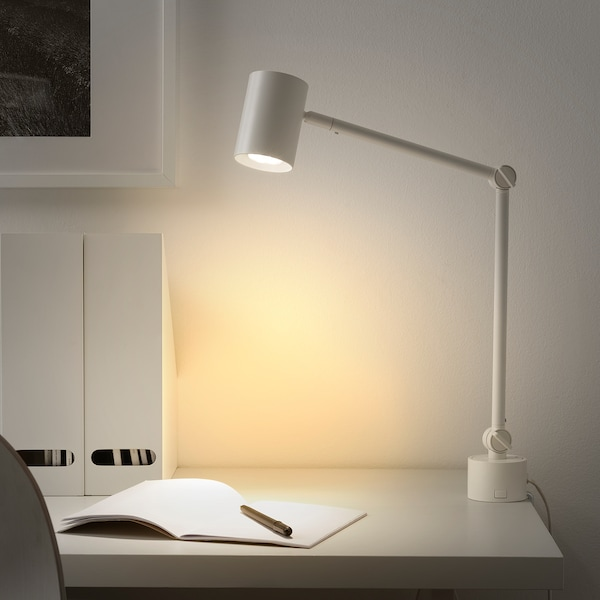 NYMÅNE Work/wall lamp, white