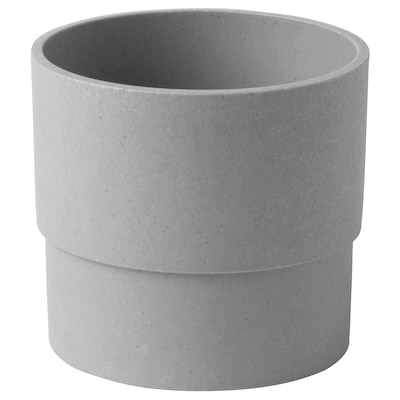NYPON Plant pot, in/outdoor grey, 9 cm