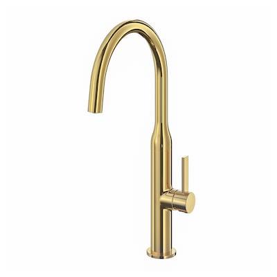 NYVATTNET Kitchen mixer tap, polished brass-colour