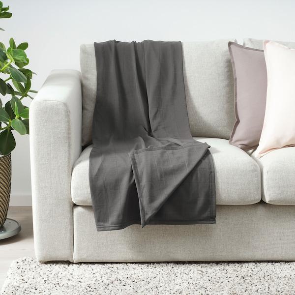 ODDHILD Throw, dark grey, 120x170 cm
