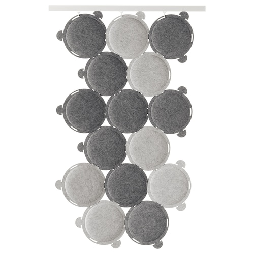 ODDLAUG sound absorbing panel grey 100 cm 50 cm 17 cm 1.5 cm 0.60 kg 15 pack