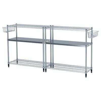 OMAR 2 shelf sections, 211x36x94 cm