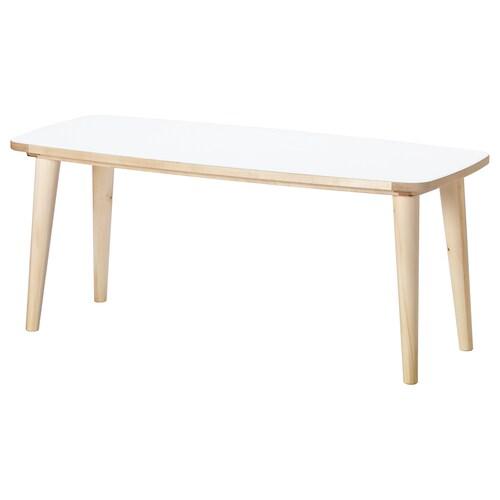 OMTÄNKSAM coffee table white/birch 115 cm 60 cm 55 cm