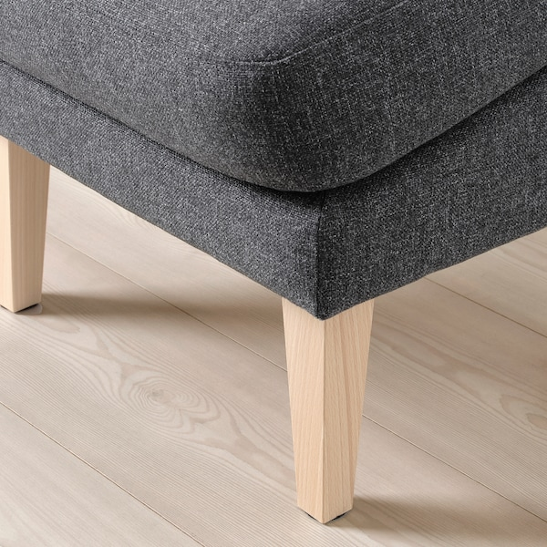 OMTÄNKSAM Footstool, slanted, Gunnared dark grey