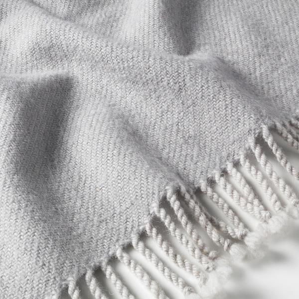 OMTÄNKSAM Throw, light grey, 60x160 cm