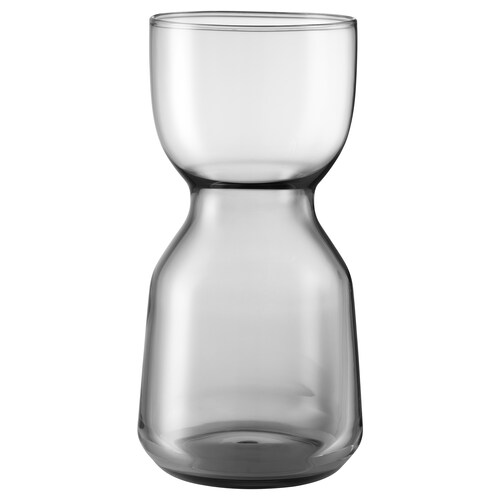 OMTÄNKSAM vase light grey 15 cm 6.5 cm