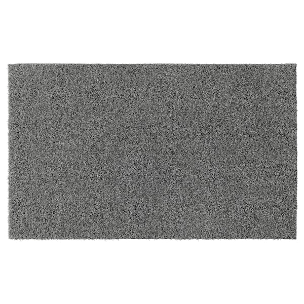 OPLEV Door mat, in/outdoor grey, 50x80 cm