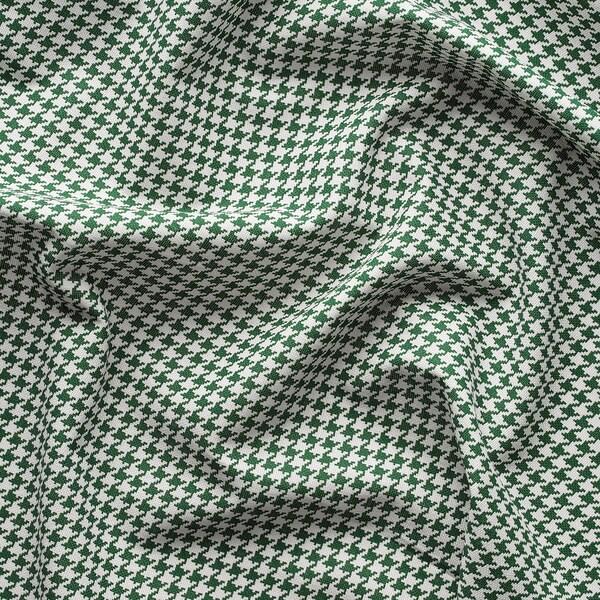 ORDENSFLY Curtains, 1 pair, white/green, 145x250 cm