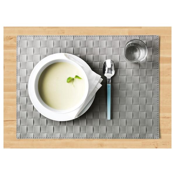 ORDENTLIG Place mat, grey, 46x33 cm
