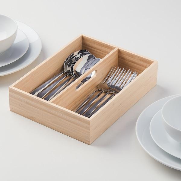 OSTBIT Cutlery tray, bamboo, 20x26 cm