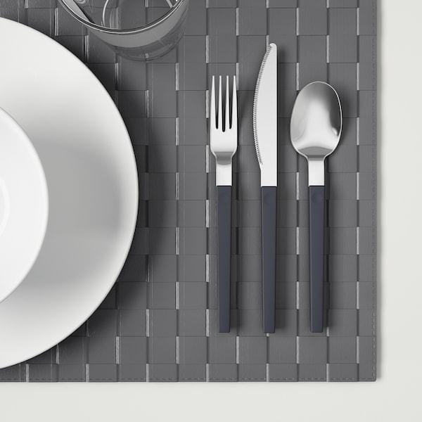 OSTRON 12-piece cutlery set, grey