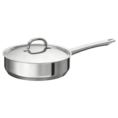OUMBÄRLIG Sauté pan with lid, 24 cm