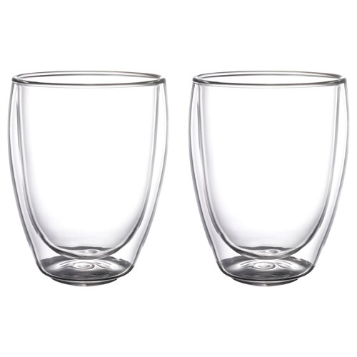 PASSERAD double walled glass 12 cm 30 cl 2 pack