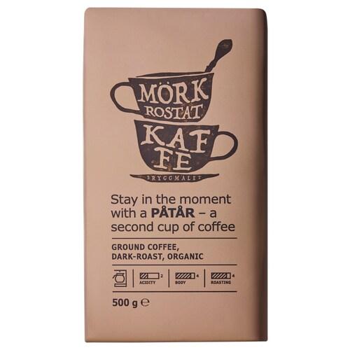 PÅTÅR filter coffee, dark roast organic/UTZ certified/100 % Arabica beans 500 g