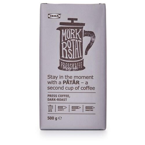 PÅTÅR press coffee, dark roast UTZ certified/100 % Arabica beans 500 g