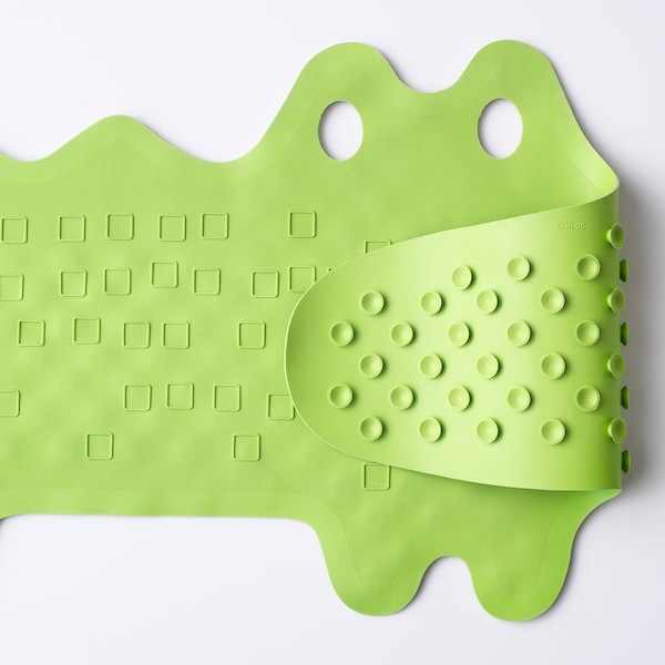 PATRULL Bathtub mat, crocodile green, 33x90 cm