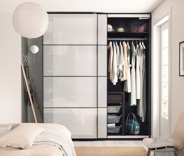 PAX 2 wardrobe frames, black-brown, 150x58x201 cm