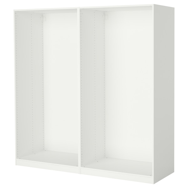 PAX 2 wardrobe frames white 199.6 cm 58.0 cm 201.2 cm