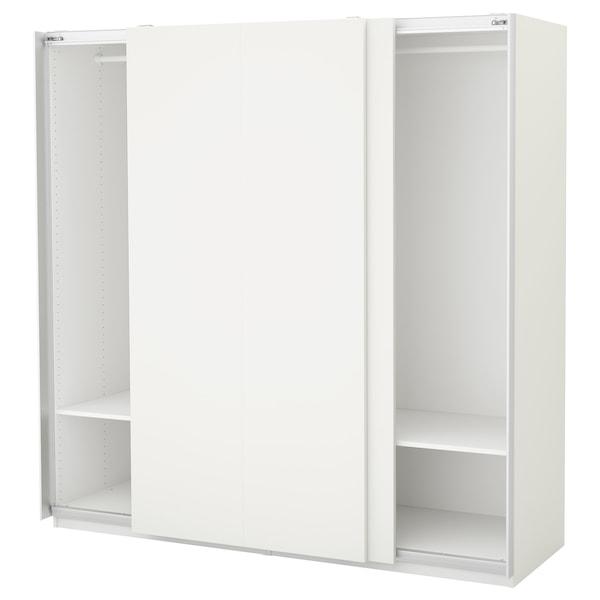 PAX Wardrobe, white/Hasvik white, 200x66x201 cm