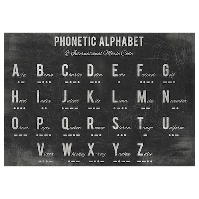PJÄTTERYD Picture, Phonetic alphabet, 100x70 cm