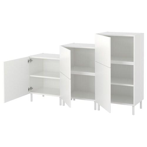 PLATSA cabinet white/Fonnes white 180 cm 42 cm 113 cm