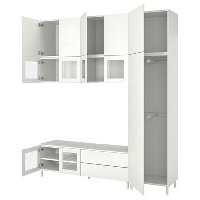 PLATSA Media storage combination, 220x42x251 cm