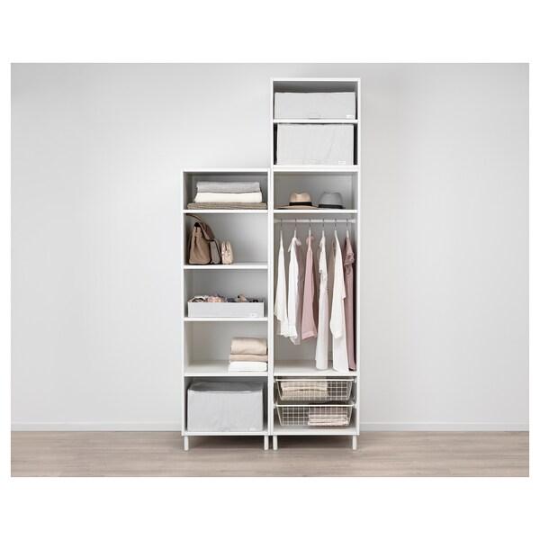 PLATSA wardrobe white/Fonnes white 120 cm 57 cm 251 cm