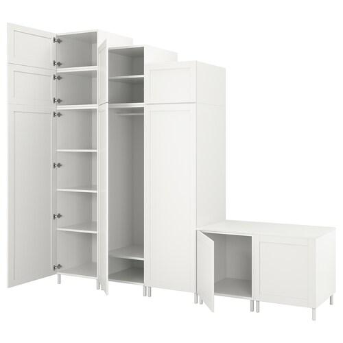 PLATSA wardrobe with 9 doors white Sannidal/white 300.0 cm 57.0 cm 271.0 cm