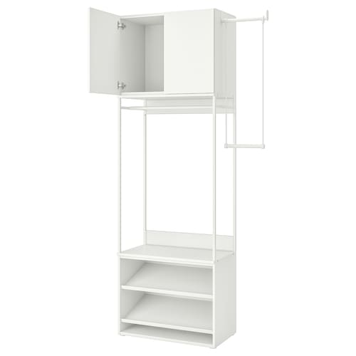 PLATSA wardrobe with shoe shelves+2 doors 115 cm 140 cm 42 cm 241 cm