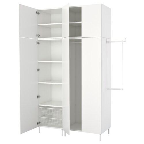 PLATSA wardrobe white/Fonnes white 140 cm 175 cm 200 cm 57 cm 251 cm