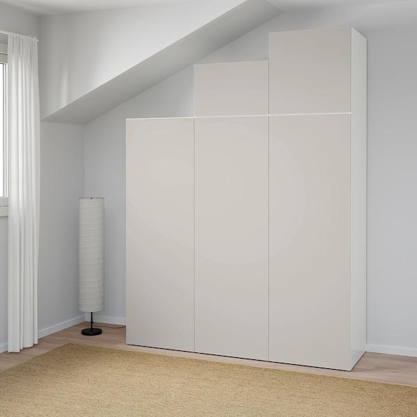 PLATSA wardrobe white/Skatval light grey 180 cm 57 cm 241 cm