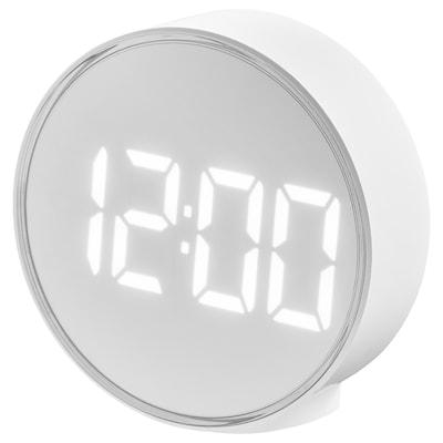 PLUGGET Alarm clock, white, 11 cm