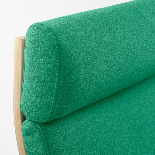 POÄNG Armchair, birch veneer/Lysed bright green