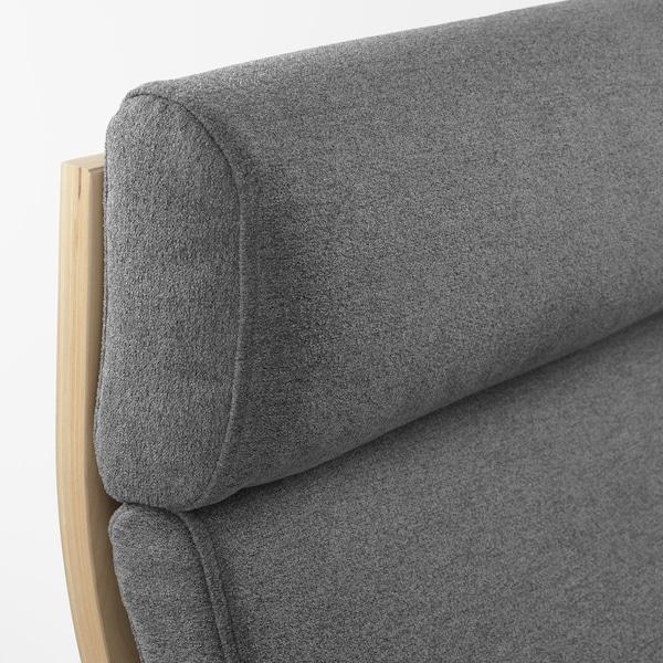 POÄNG Armchair, birch veneer/Lysed grey