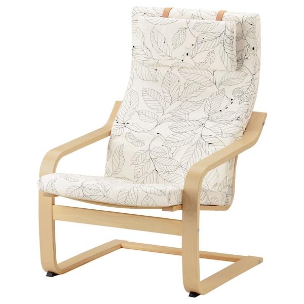 POÄNG armchair cushion Vislanda black/white
