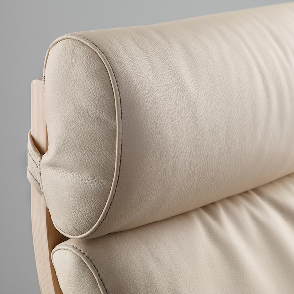 POÄNG armchair birch veneer/Glose eggshell 68 cm 83 cm 100 cm 55 cm 53 cm 41 cm
