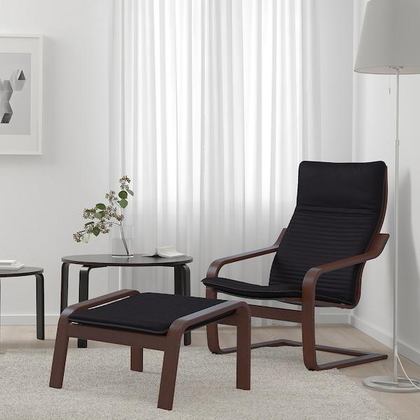 POÄNG armchair brown/Knisa black 68 cm 83 cm 100 cm 55 cm 53 cm 41 cm