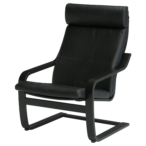 POÄNG armchair black-brown/Smidig black 68 cm 82 cm 100 cm 56 cm 50 cm 42 cm