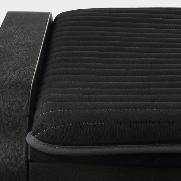 POÄNG footstool black-brown/Knisa black 68 cm 54 cm 39 cm