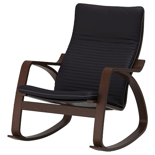 POÄNG rocking-chair brown/Knisa black 68 cm 94 cm 95 cm 56 cm 50 cm 45 cm