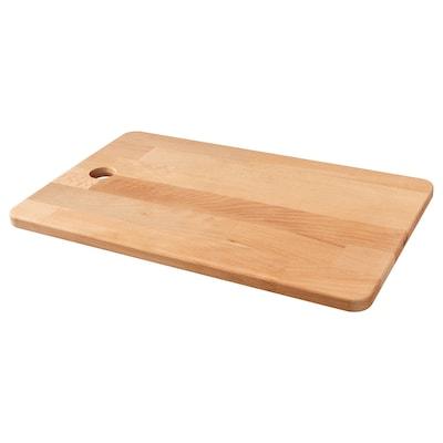 PROPPMÄTT Chopping board, rubberwood, 45x28 cm