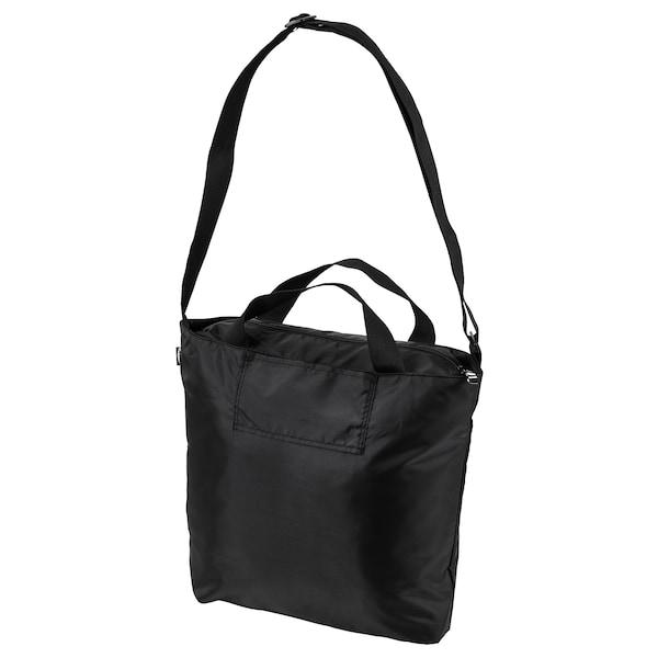 RÄCKLA Bag, foldable, black, 48x36 cm/20 l