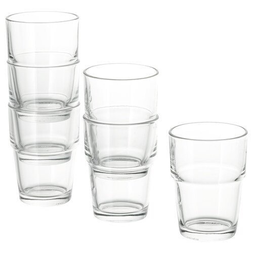REKO glass clear glass 9 cm 17 cl 6 pack