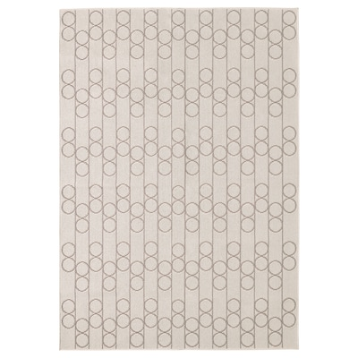 RINDSHOLM Rug, flatwoven, beige, 160x230 cm