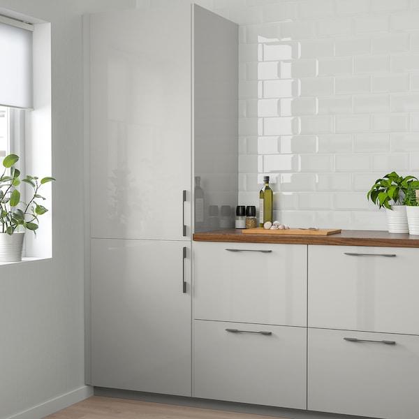 RINGHULT Door, high-gloss light grey, 30x80 cm