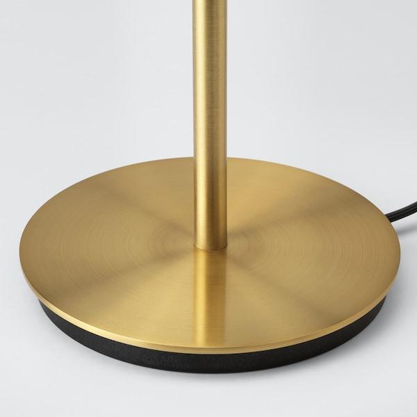 RINGSTA / SKAFTET Table lamp, white/brass, 41 cm