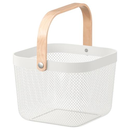 RISATORP basket white 25 cm 26 cm 18 cm