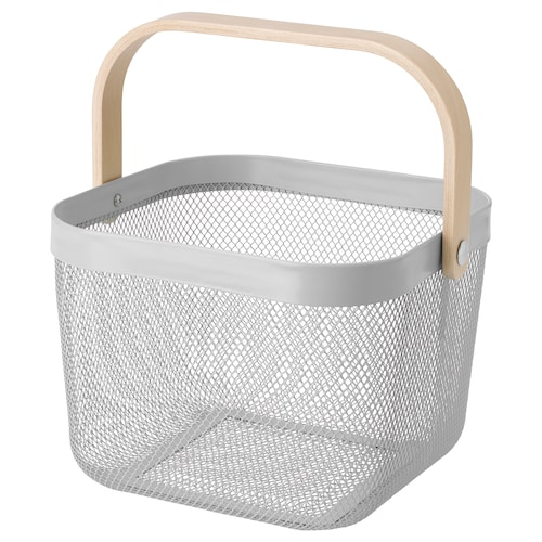RISATORP basket grey 25 cm 26 cm 18 cm