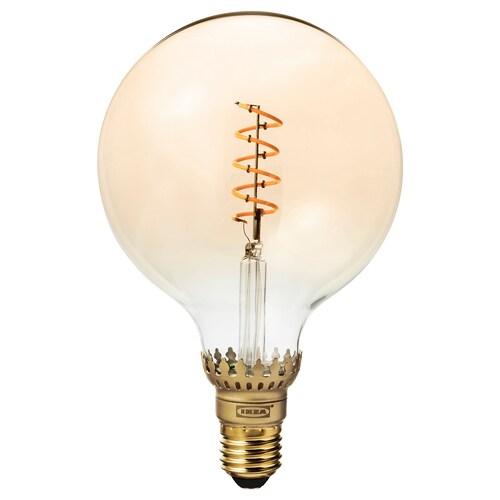 ROLLSBO LED bulb E26 300 lumen dimmable/globe brown clear glass 1800 K 300 lm 125 mm 5.5 W 1 pack